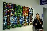 "Obra ""Los Arboles"" vendida a la bilblioteca de la universidad Emerson College. Boston, USA."